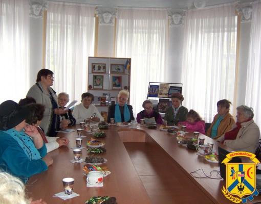 У Первомайській міській бібліотеці відбулась зустріч членів Культуро-інформаційного центру для людей елегантного віку
