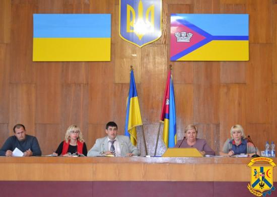 Під головуванням міського голови Л.Дромашко відбулось засідання 21 сесії Первомайської міської ради сьомого скликання.