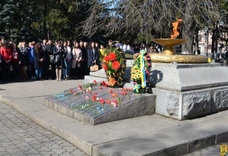 Мітинг з нагоди відзначення 75-ї річниці визволення міста Первомайська