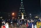 Жителі та гості нашого міста зустрічали Новий рік на центральній площі