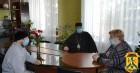 Відбулась зустріч міського голови Людмили Дромашко із Архієпископом Вознесенським і Первомайським Олексієм та Благочинним Первомайського міського округу протоієреєм Анатолієм Нирко
