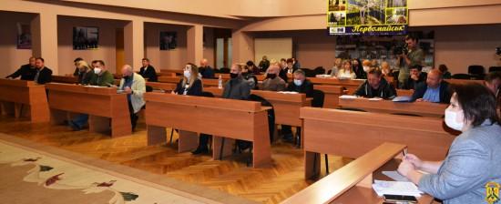 Розпочалось пленарне засідання чергової сесії Первомайської міської ради